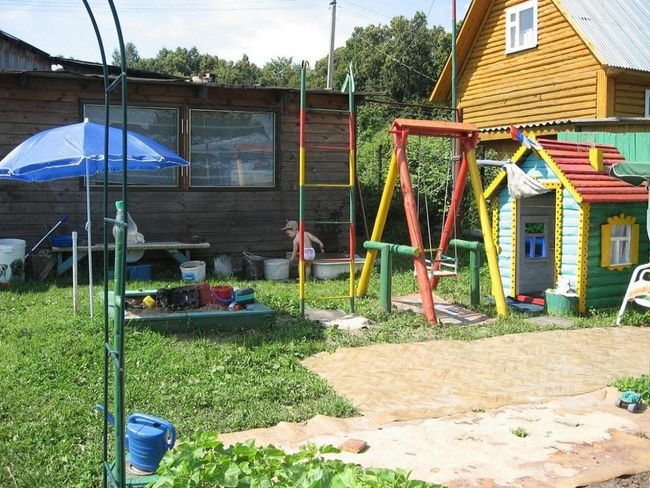 идеи для детской площадки на даче