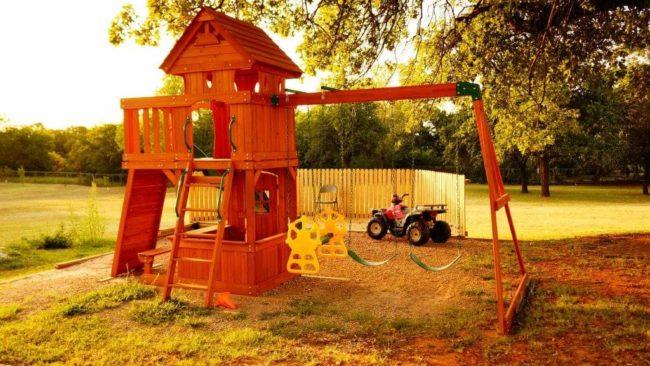 Как сделать детскую площадку на даче правильно