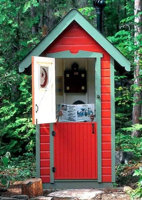 Туалет в стили ковбойский салун