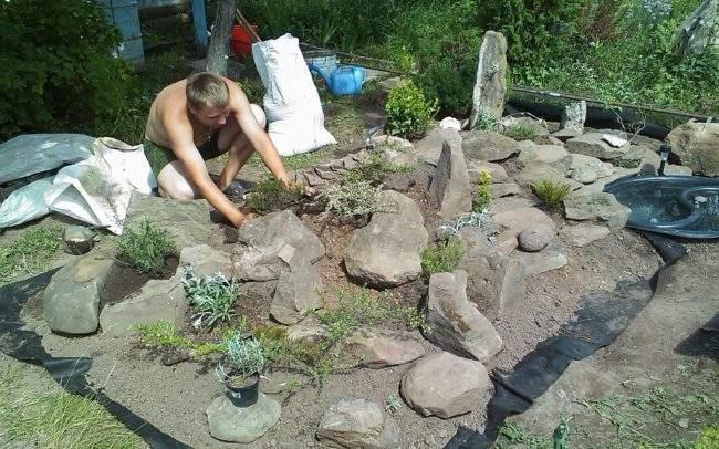 Делаем сад камней своими руками