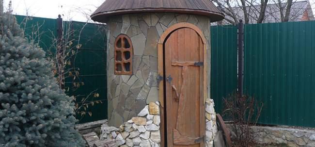 Дизайн уличного туалета на даче