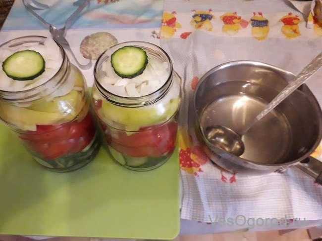 Маринад для овощного салата на зиму